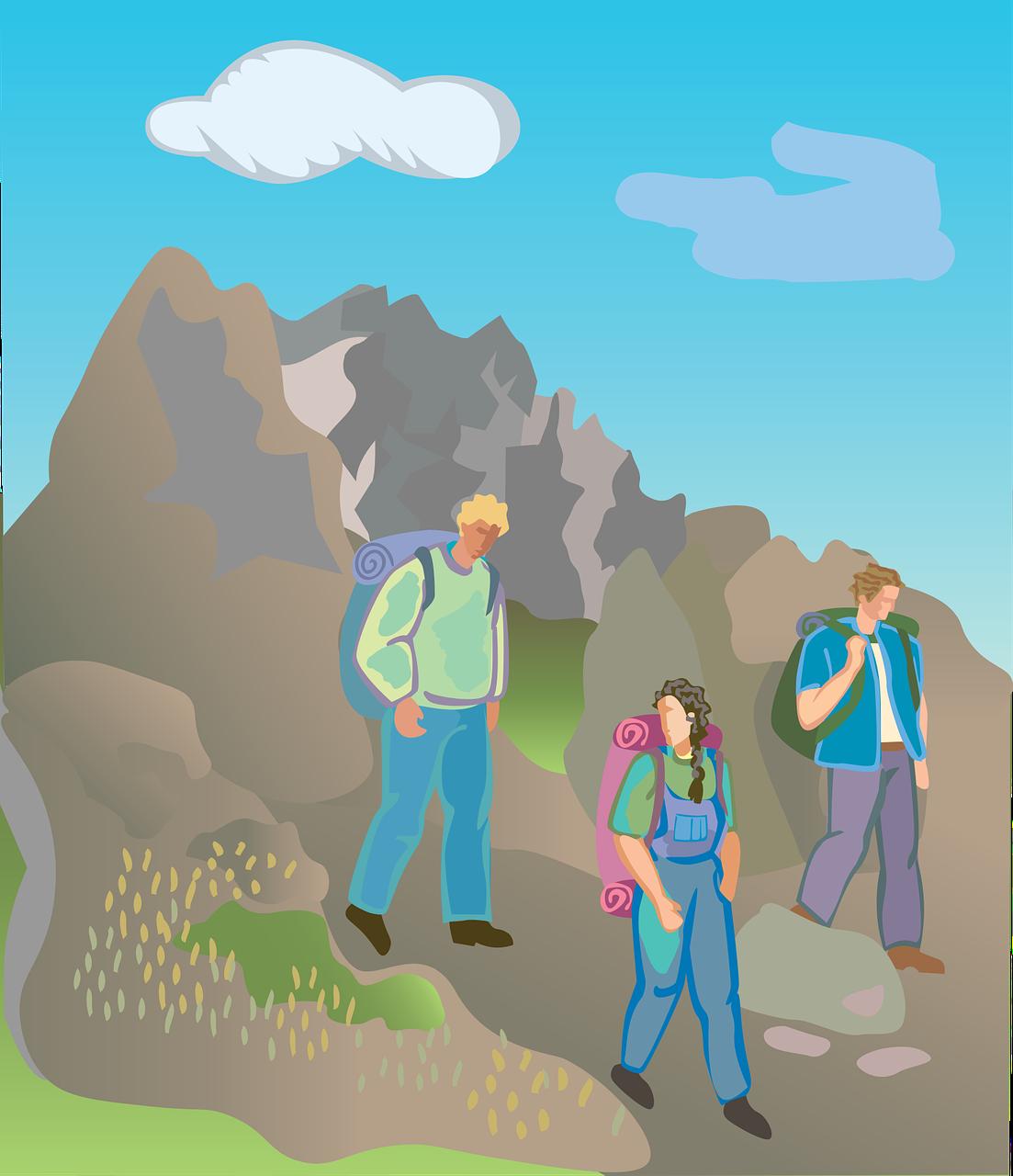 L'alpinisme: le sport des courageux.